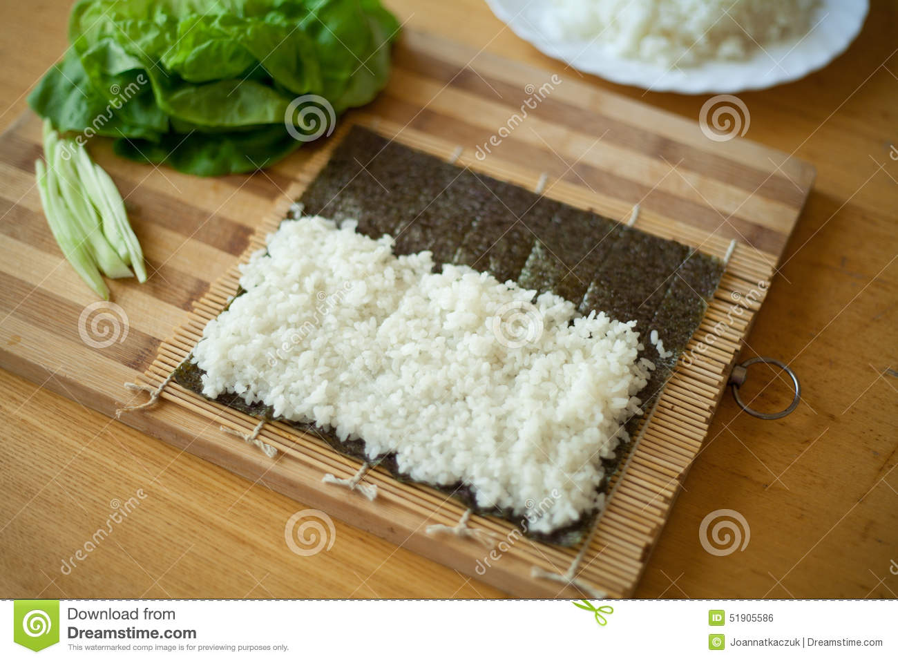 2060f1fe5f1a Sushi preparation rice stock photo. Image of cook