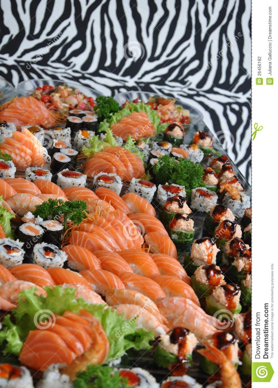 Sushi and raw fish platter stock photography image 26456182 for Is sushi raw fish