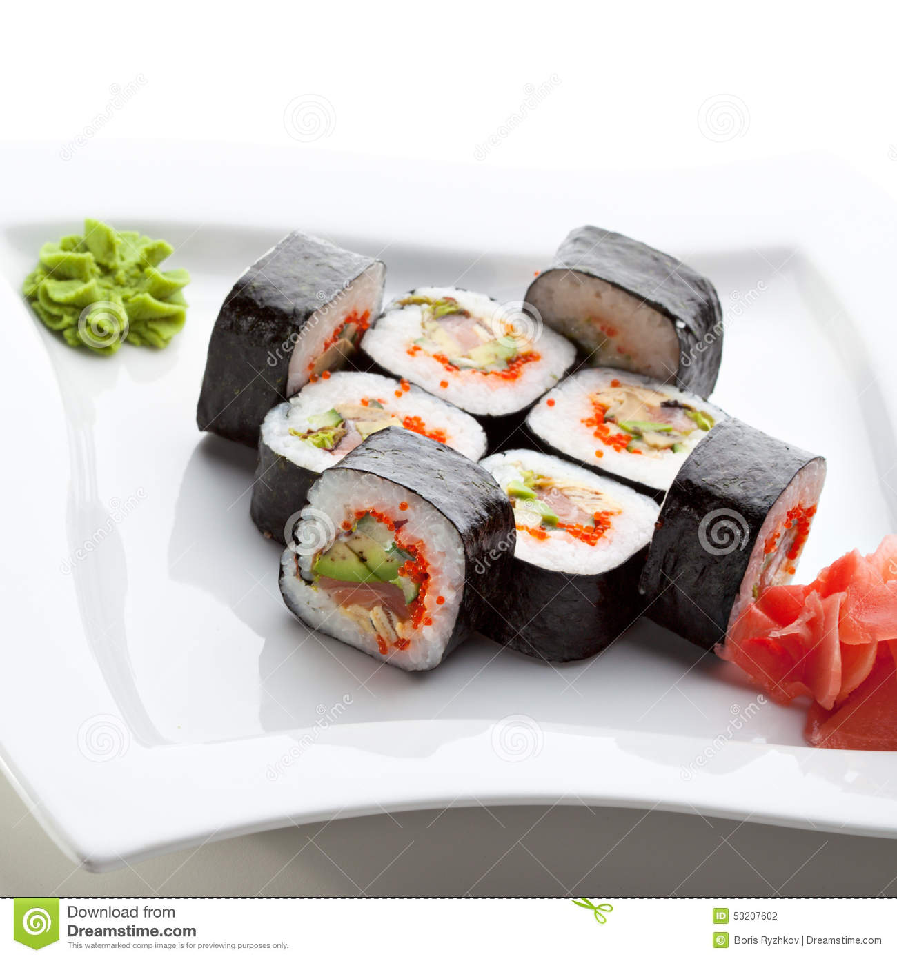Sushi Roll Stock Photo - Image: 53207602