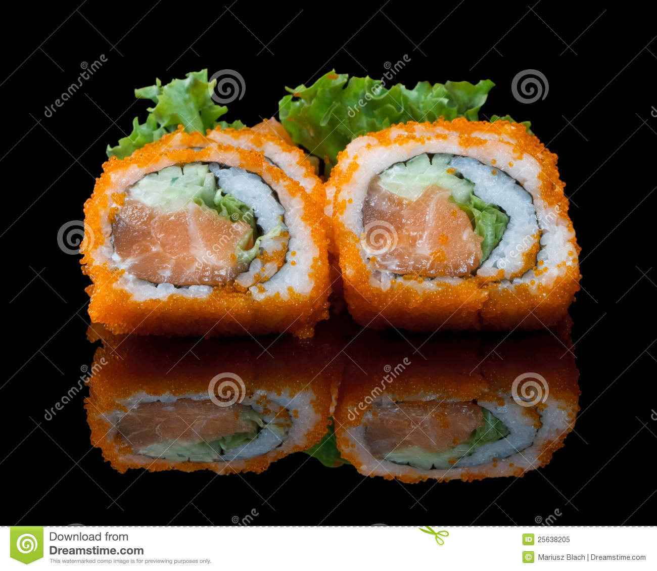 Sushi set with fish eggs royalty free stock photo image for Fish eggs on sushi