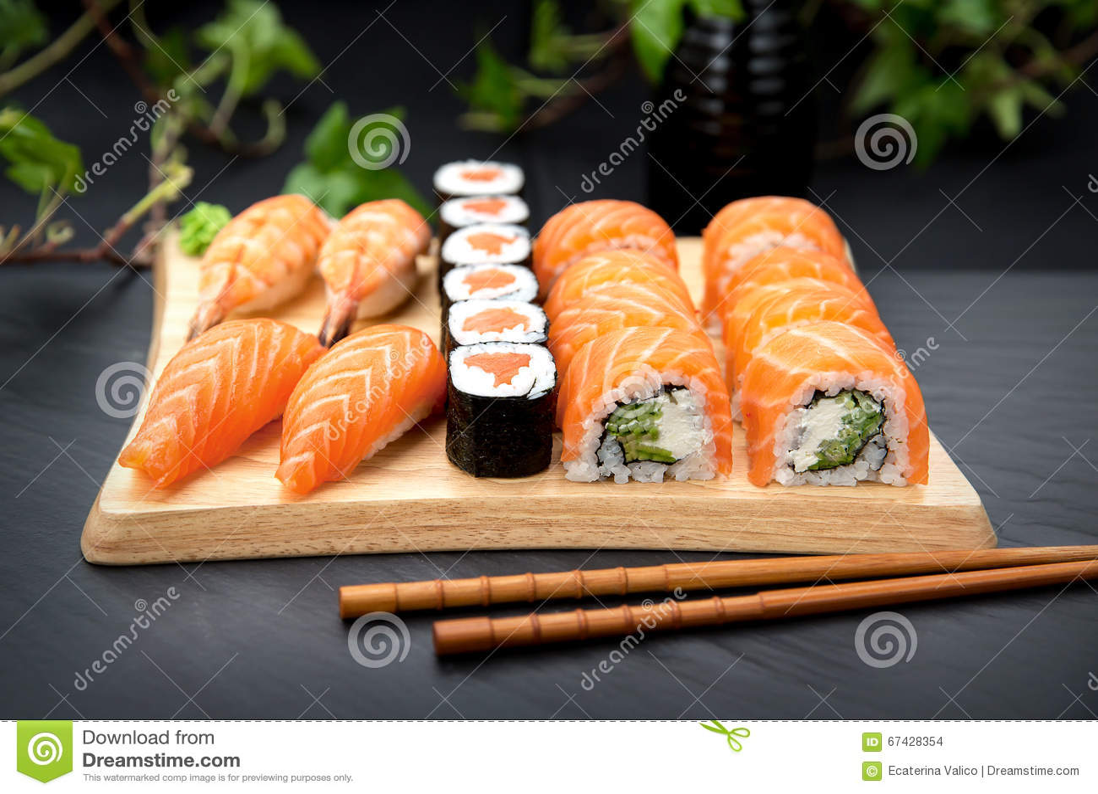 Sushi set Traditional Japanese Food