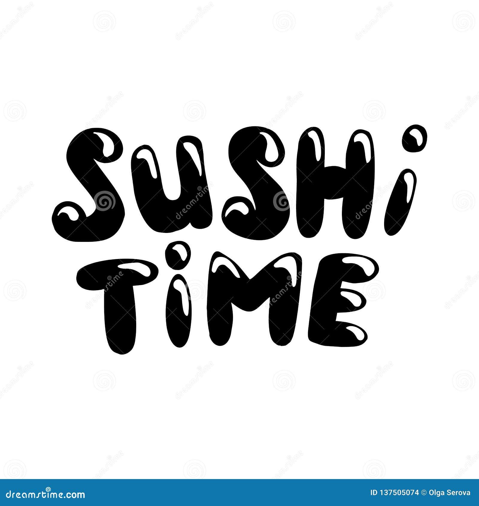Sushi time lettering