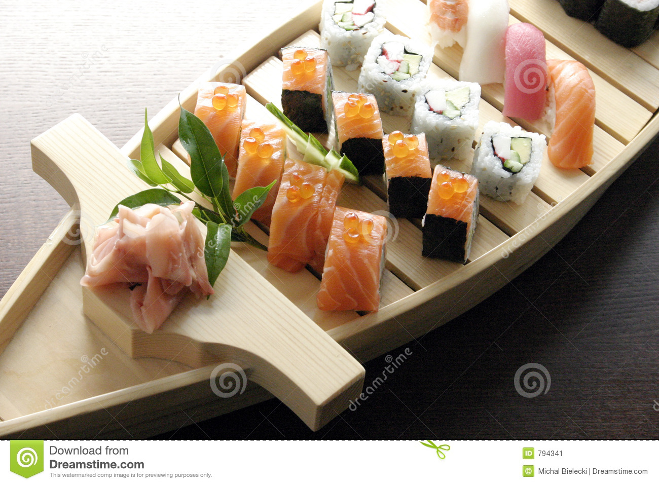 Sushi traditional japanese food stock image image of for Authentic japanese cuisine