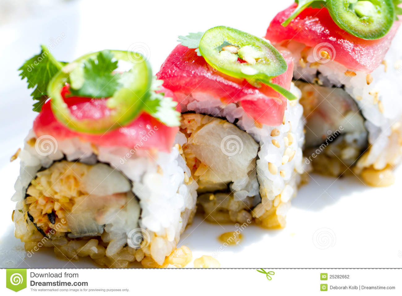 Sushi Tuna Roll Stock Photography - Image: 25282662