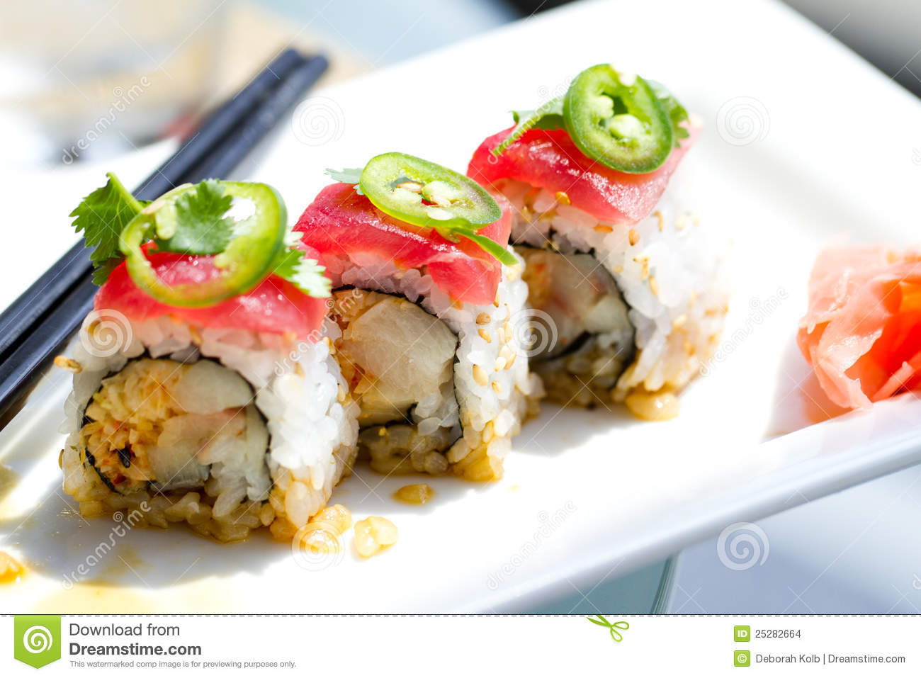 Sushi tuna yellowtail roll stock photos download 289 images for Yellowtail fish sushi