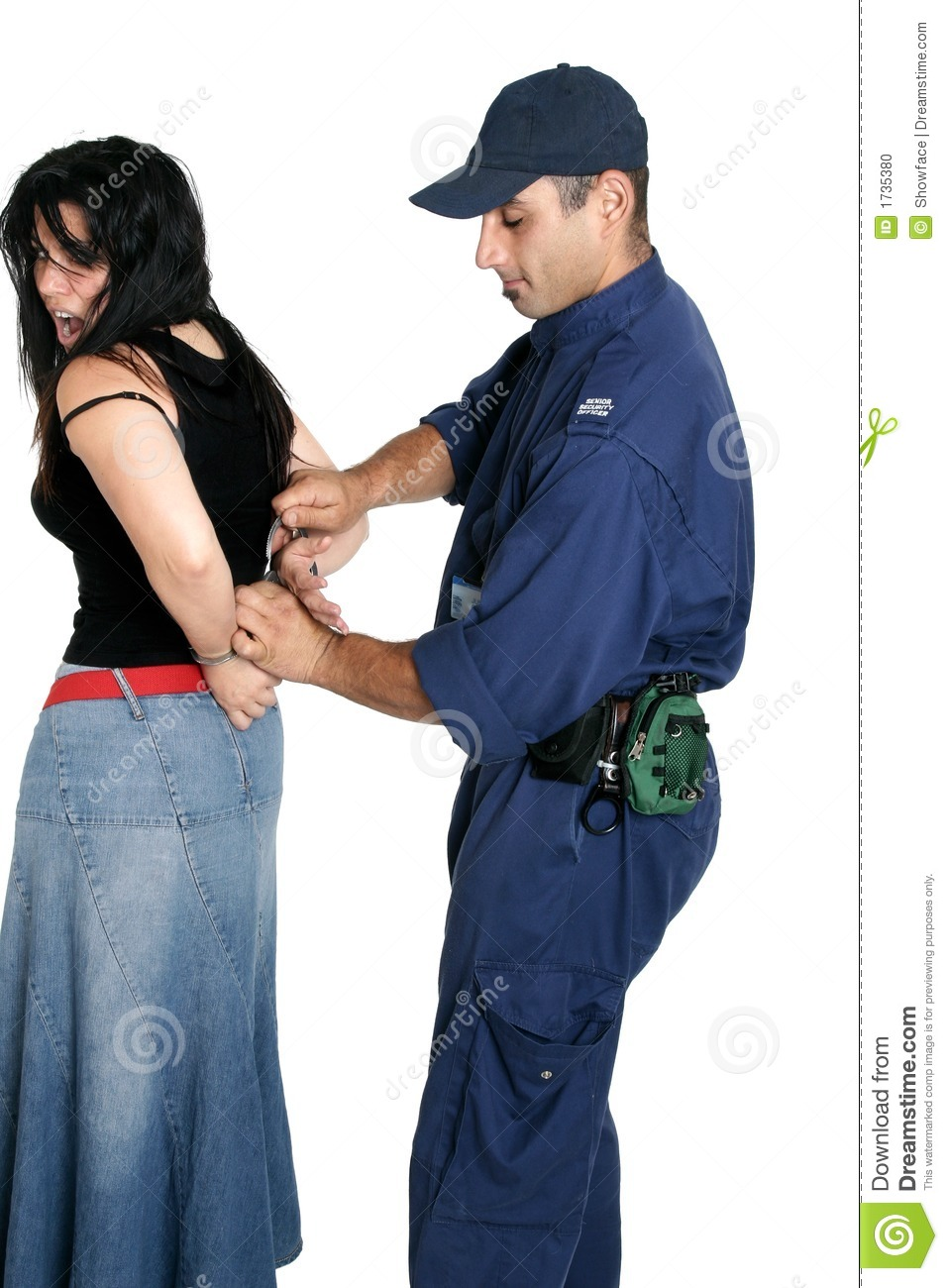 More similar stock images of ` Suspect thief being handcuffed `