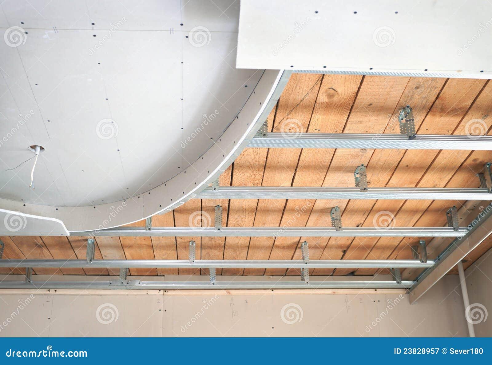 Как сделать двухуровневый потолок своими руками фото