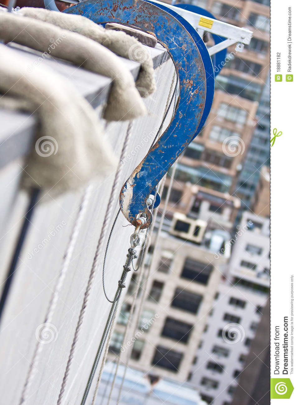 Suspended Scaffold Rigging Stock Photography Image 18881182