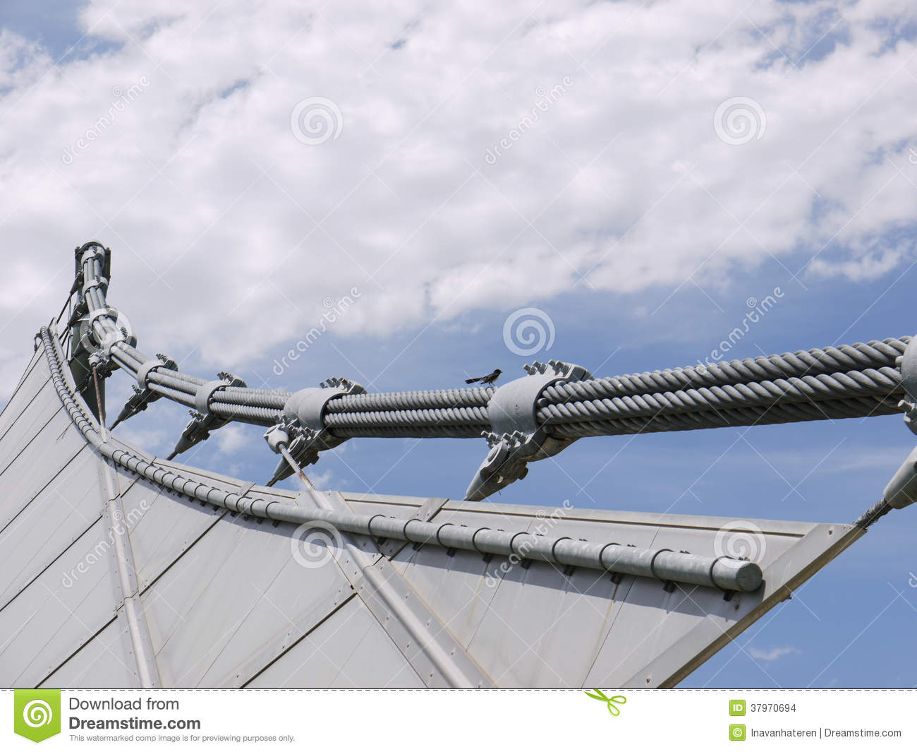Suspended Steel Structure Of A Music Bowl Stock Photo - Image of