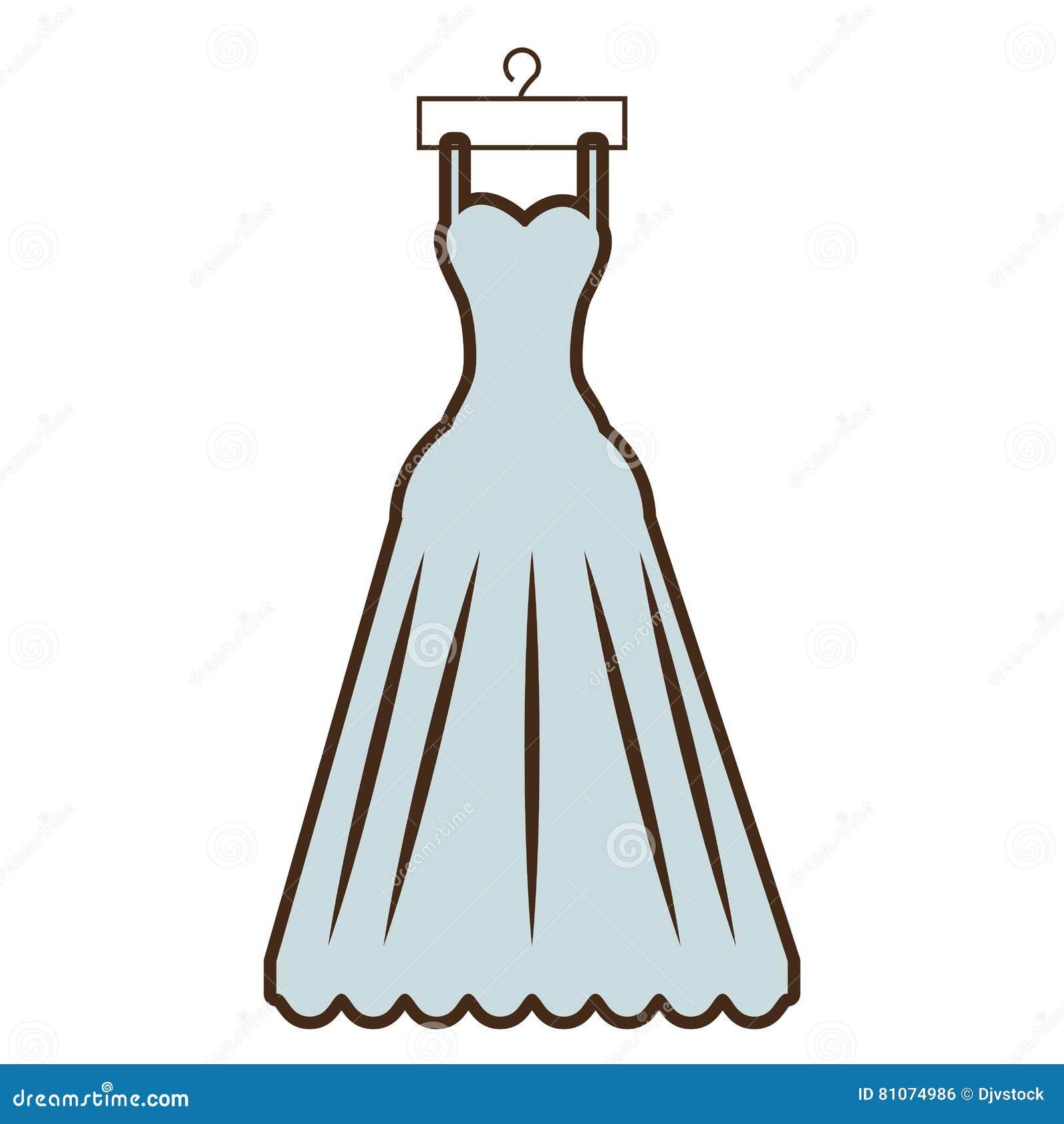 Suspensão Bonita Da Noiva Do Vestido Dos Desenhos Animados