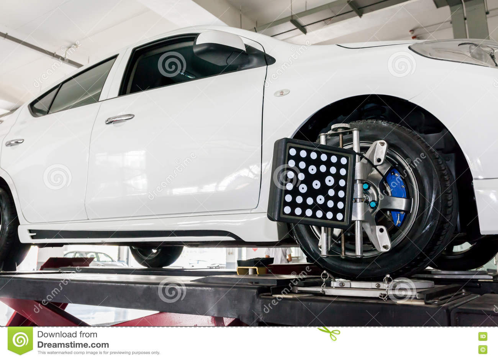suspension adjustment and automobile wheel alignment work stock