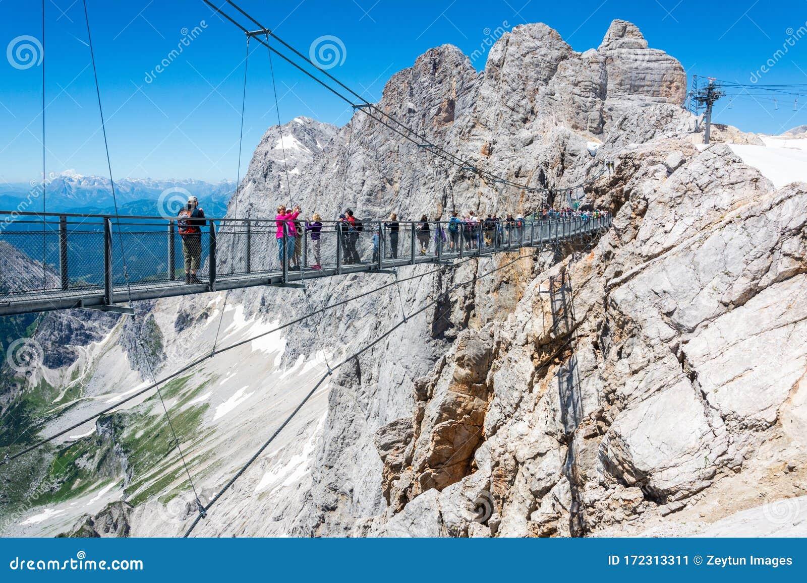 Suspension Bridge of Dachstein Skywalk Viewpoint in Austria ...