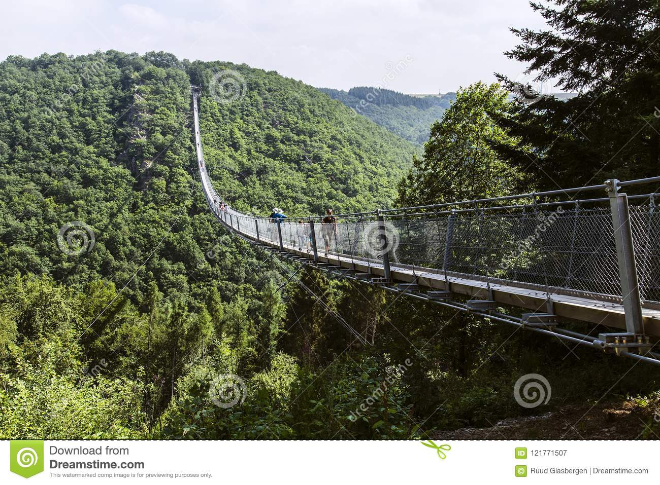 Suspension Bridge Geierlay Especially for Hikers without Fear of ...