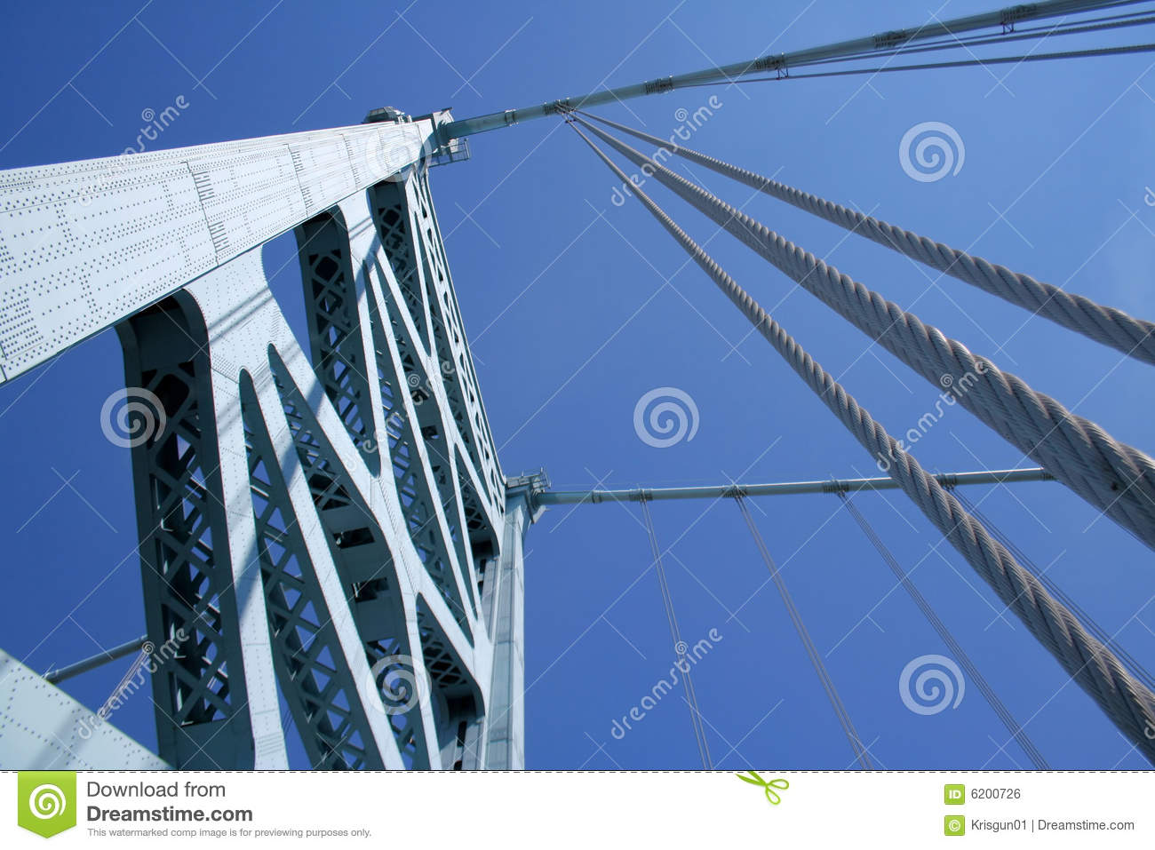 suspension cables A suspension bridge is a type of bridge in which the deck (the load-bearing portion) is hung below suspension cables on vertical suspenders the first modern examples.