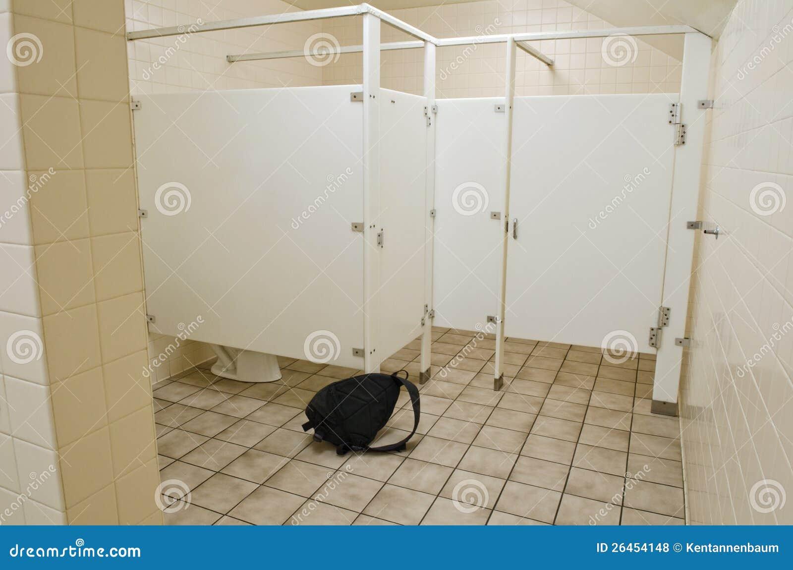 Suspicious Bag In Public Bathroom Stock Photo Image Of