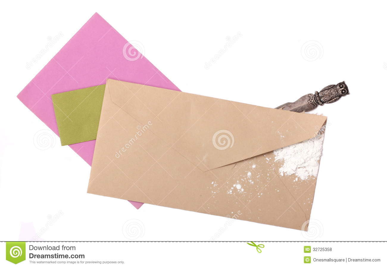 Suspicious Unmarked Envelope With Ricin Royalty Free Stock