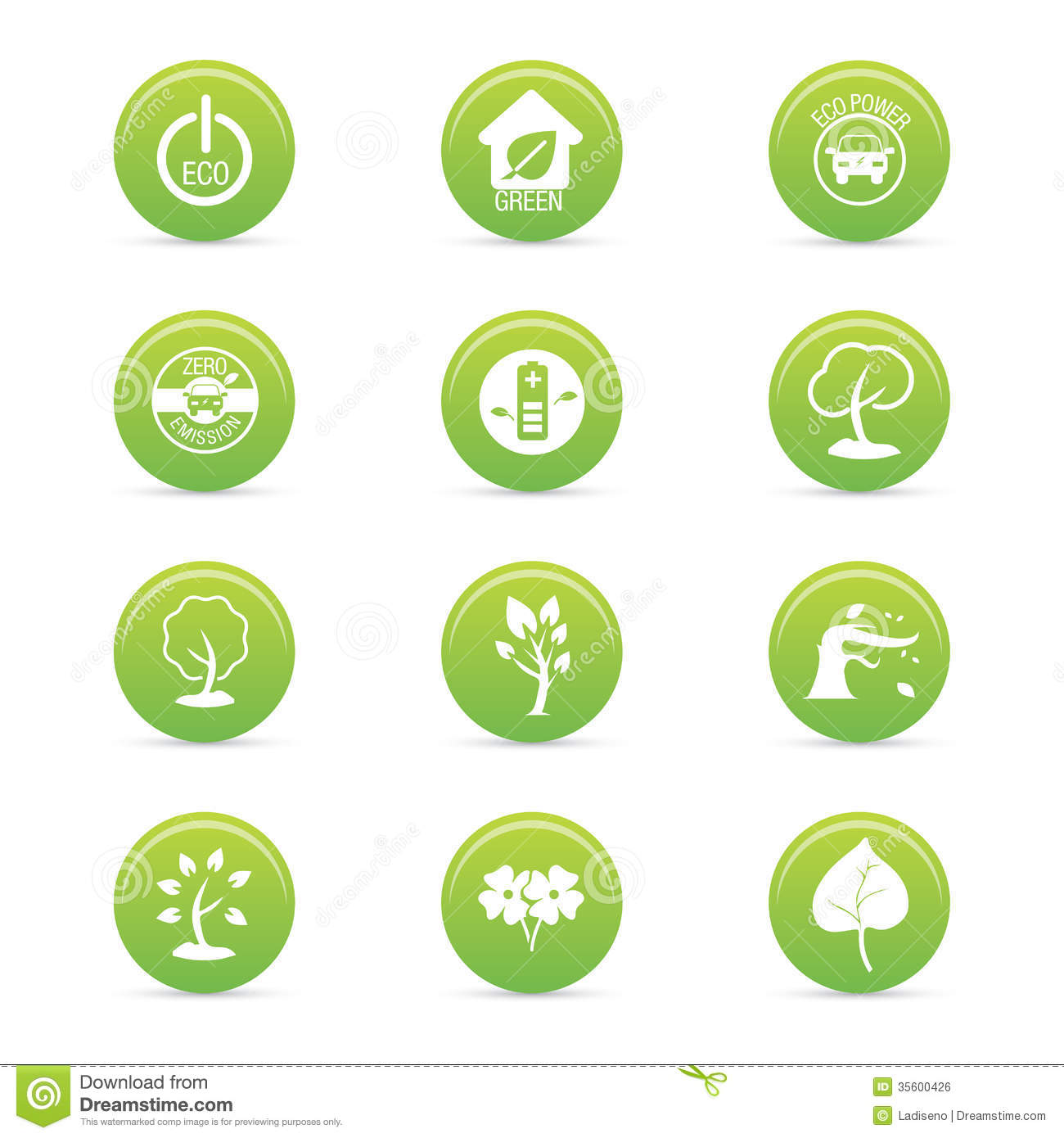Sustainability Icons Royalty Free Stock Image - Image: 35600426