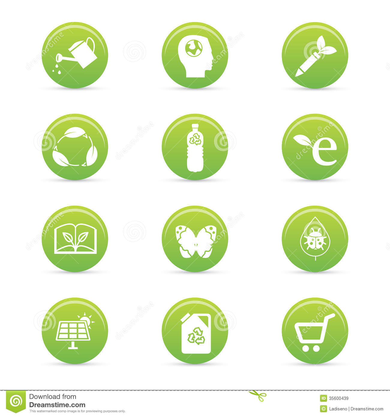 Sustainability Icons Royalty Free Stock Images - Image: 35600439