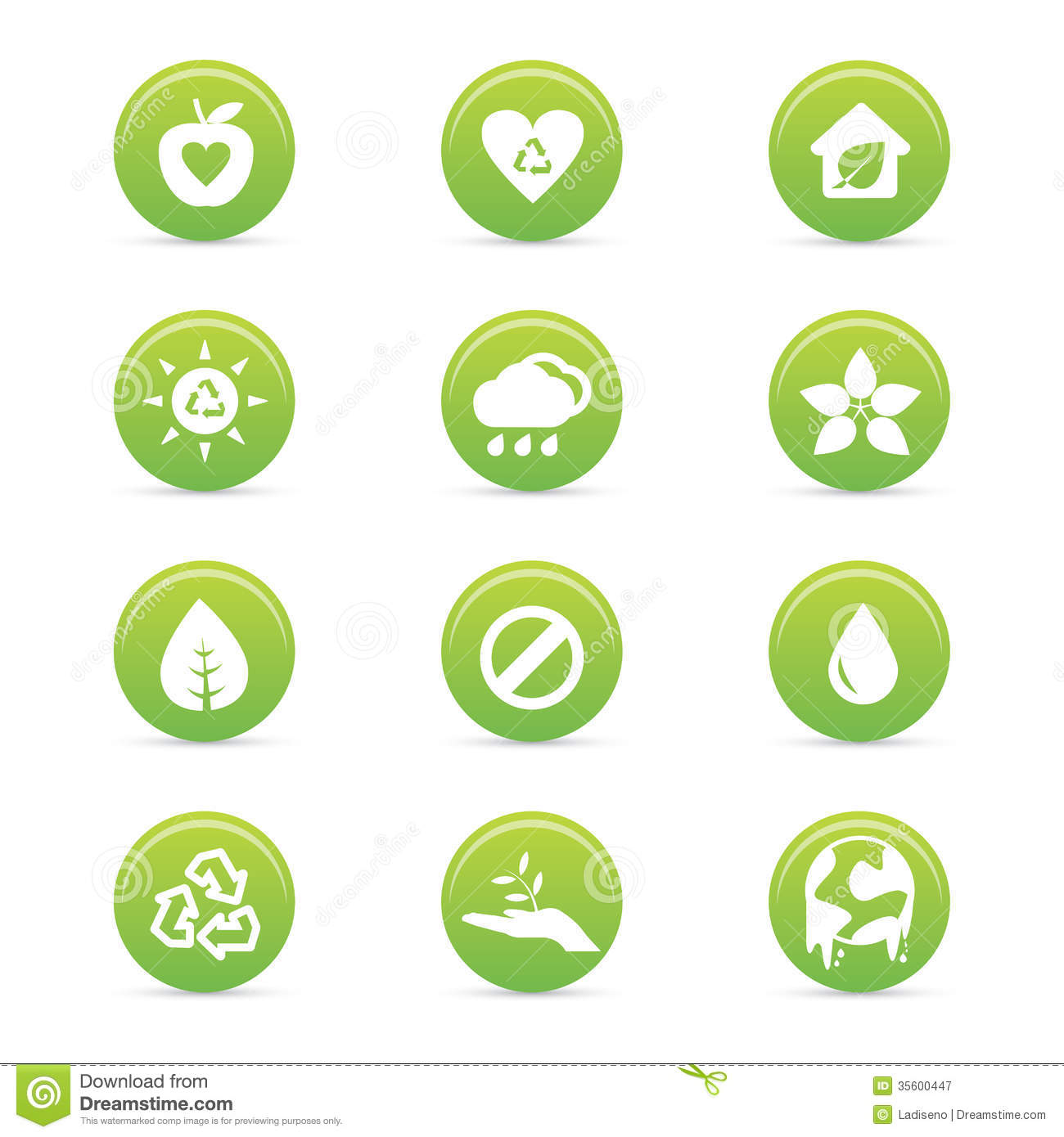 Sustainability Icons Royalty Free Stock Photography - Image: 35600447