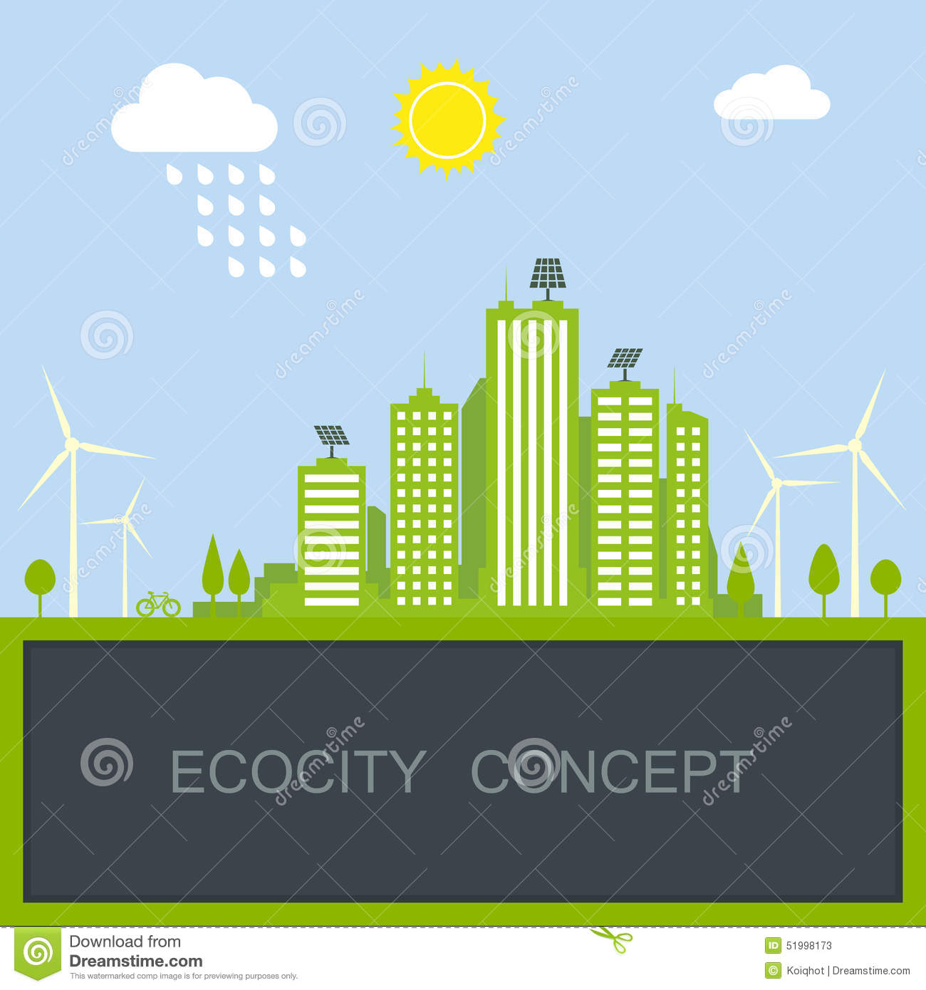 sustainable city concept stock vector image 51998173