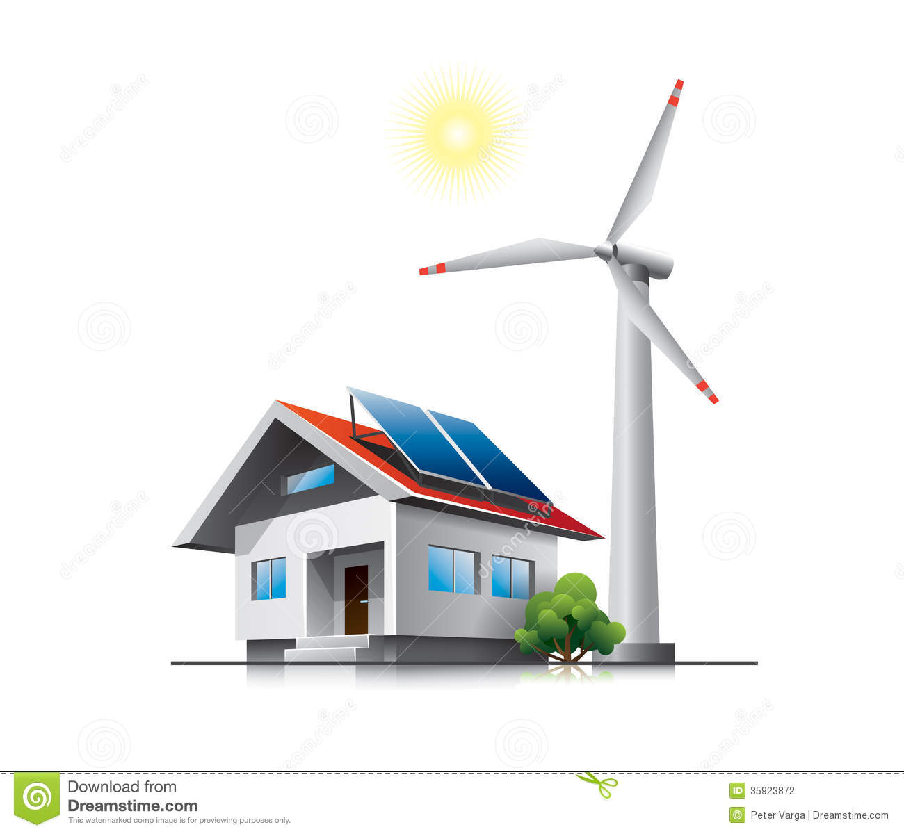 Sustainable Family House Stock Photography - Image: 35923872