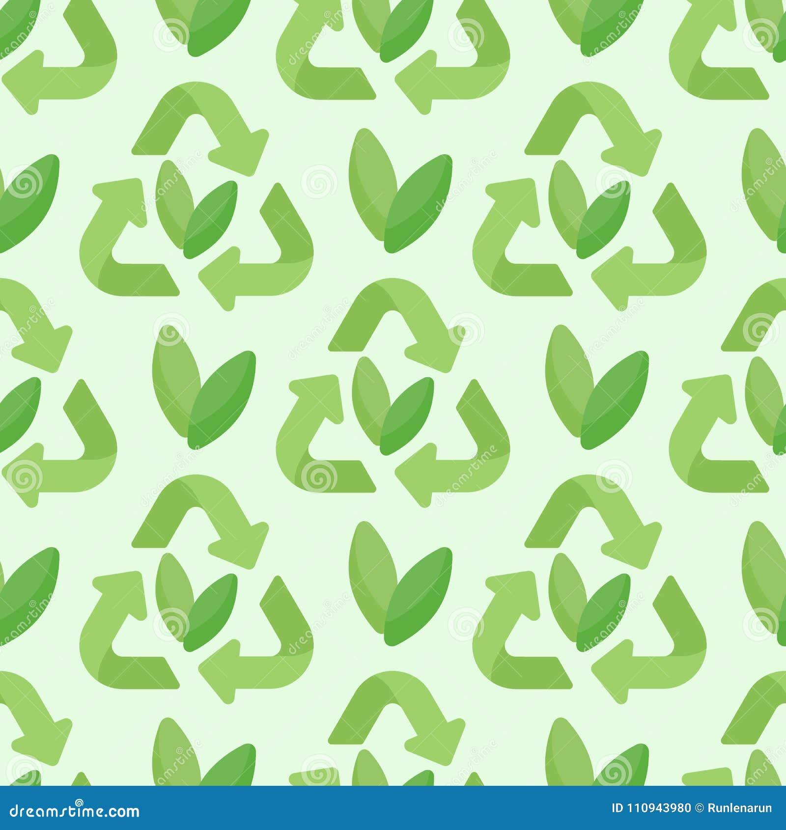Sustainable Packaging Vector Seamless Pattern Stock Illustration