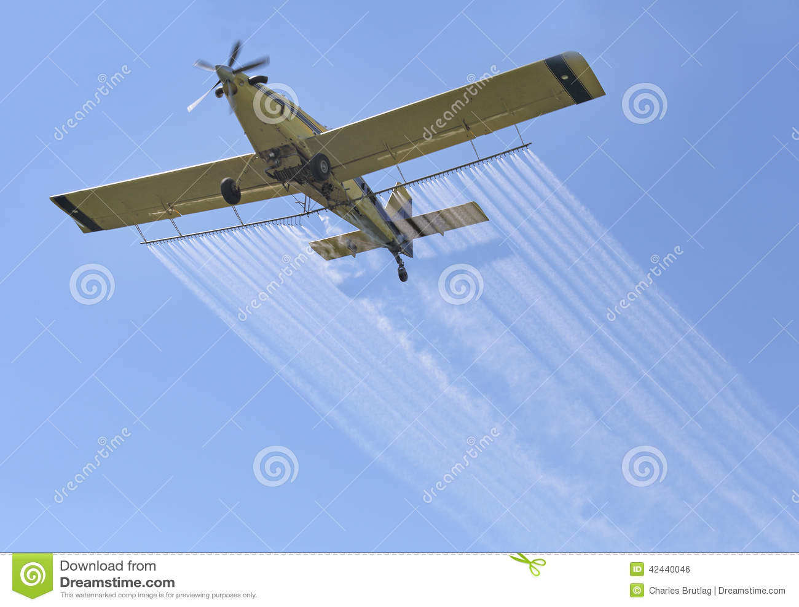 Sustancias químicas de rociadura del aeroplano