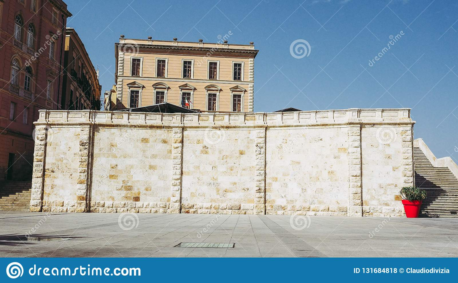 Susu van akacasteddu e van het Castellokwart in Cagliari, Italië