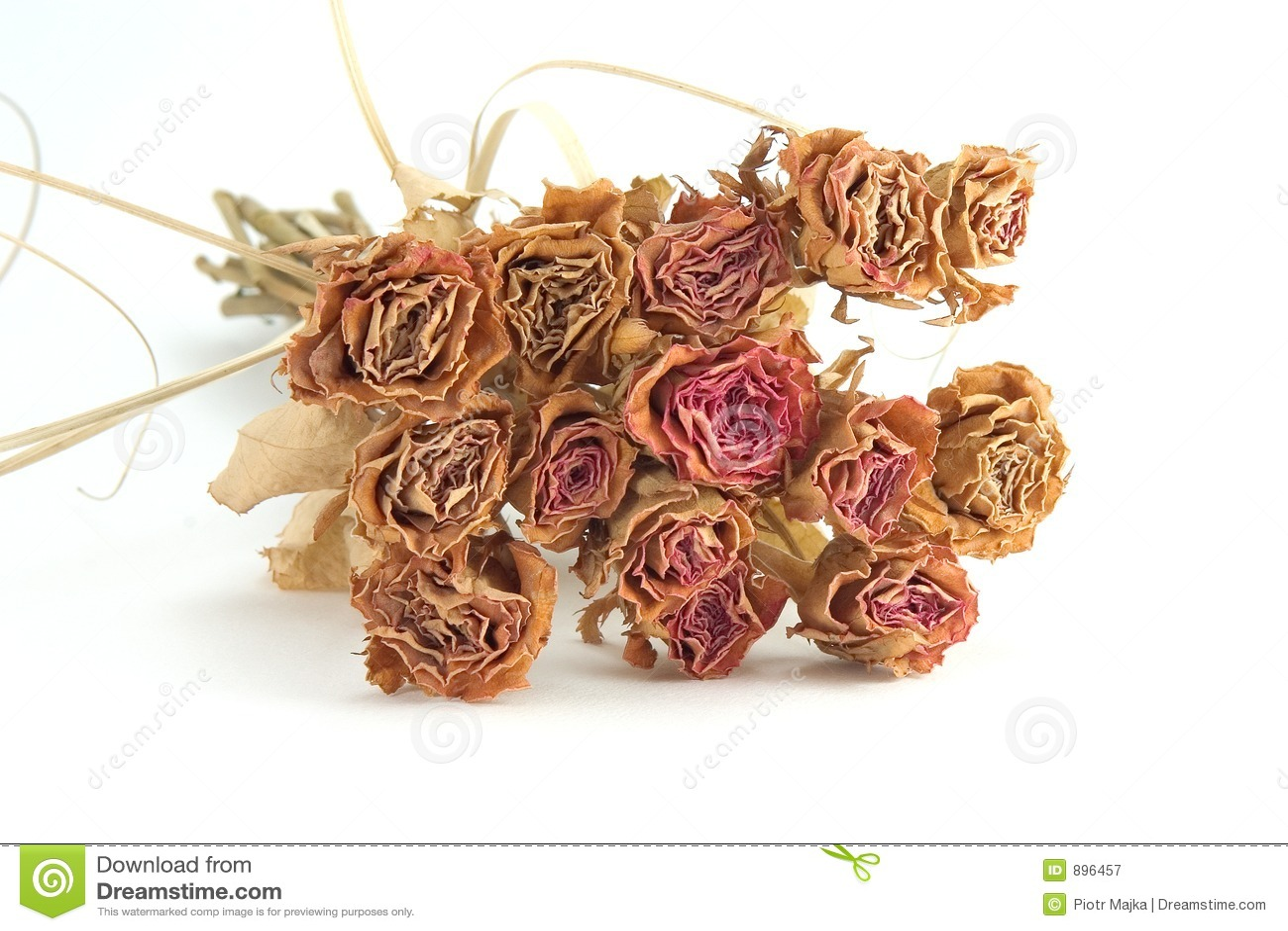 Suszone bukiet róż