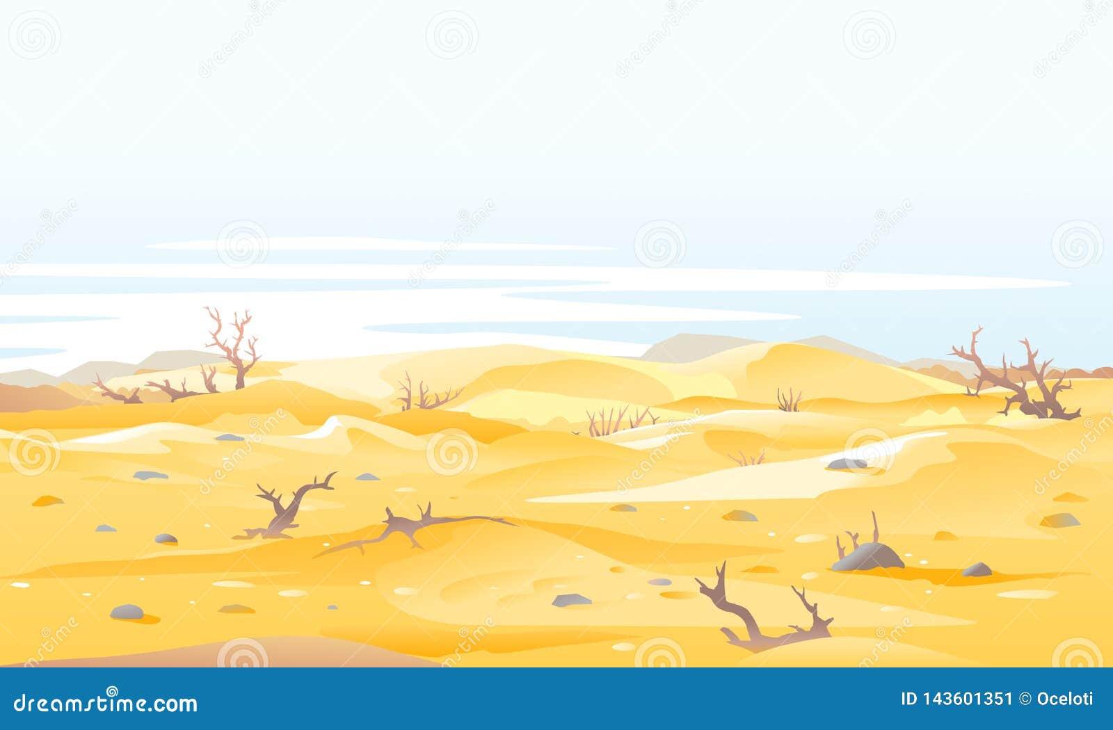 Suszy ondesert krzaków nalure ilustracja
