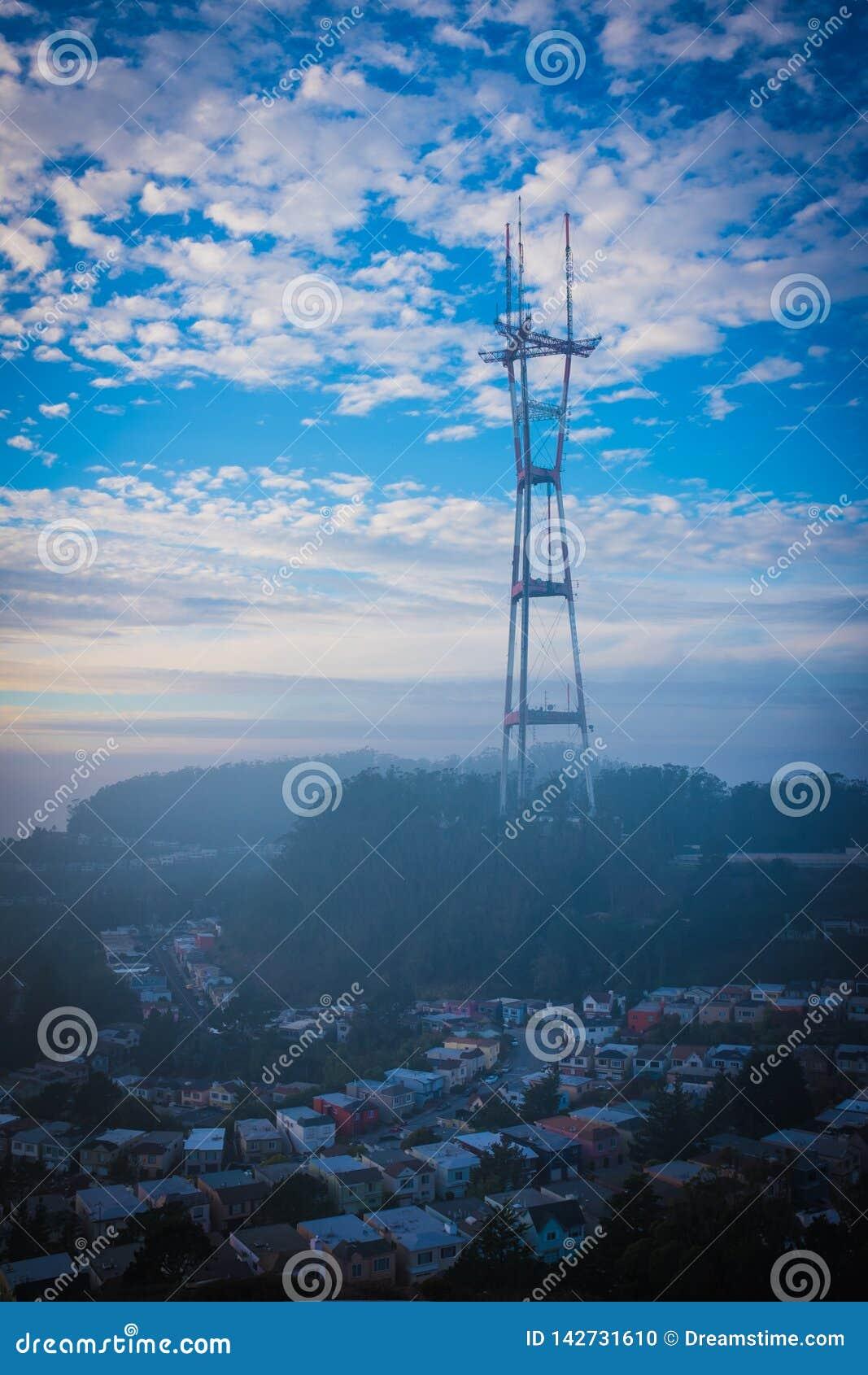 Sutros Kontrollturm, Nachmittag im Herbst, San Francisco