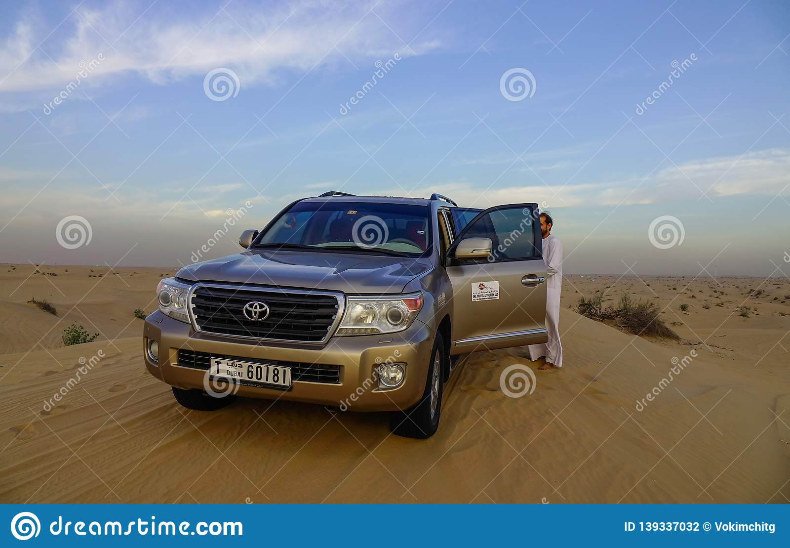 A Suv Car On Dubai Desert Editorial Photography Image Of Sport 139337032