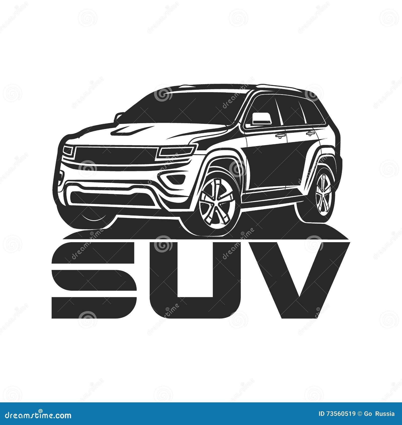 suv car icon logo design cartoon vector 73560519. Black Bedroom Furniture Sets. Home Design Ideas