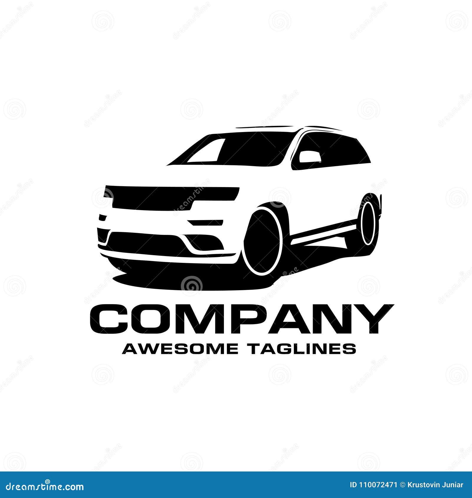Suv Car Silhouette Style Vector Auto Car Logo Concept Stock Vector
