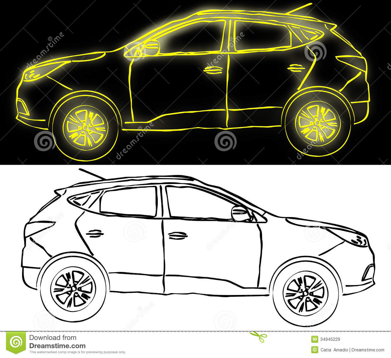 Suv Drawing Royalty Free Stock Images Image