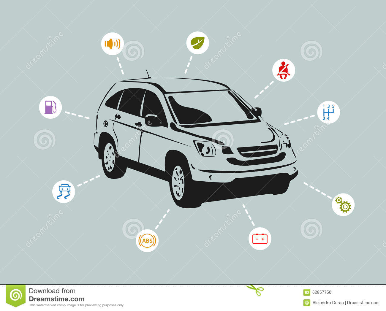 suv features stock vector illustration of elements, abstract 62857750suv features, diagram of truck car