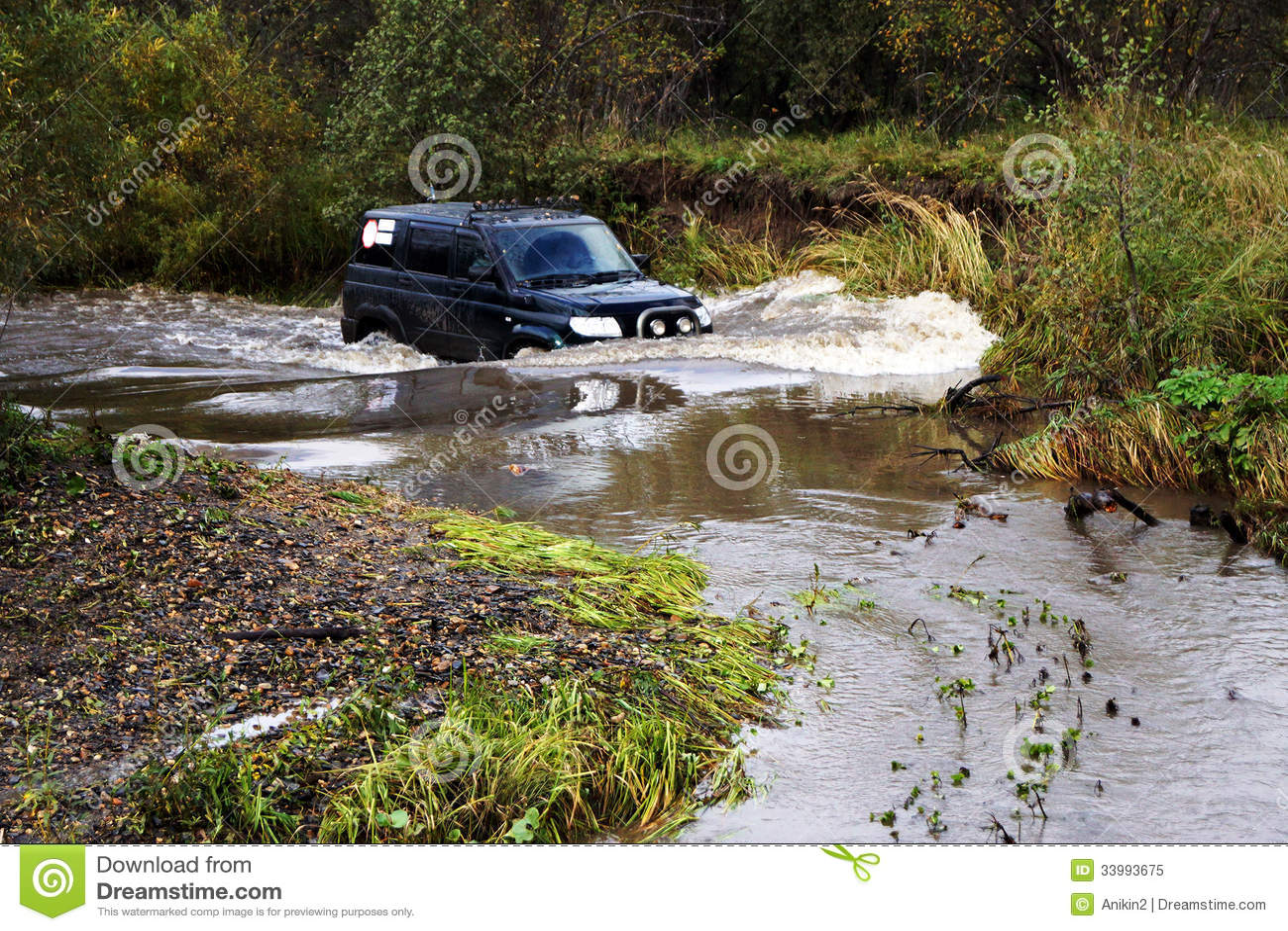 SUV im Fluss