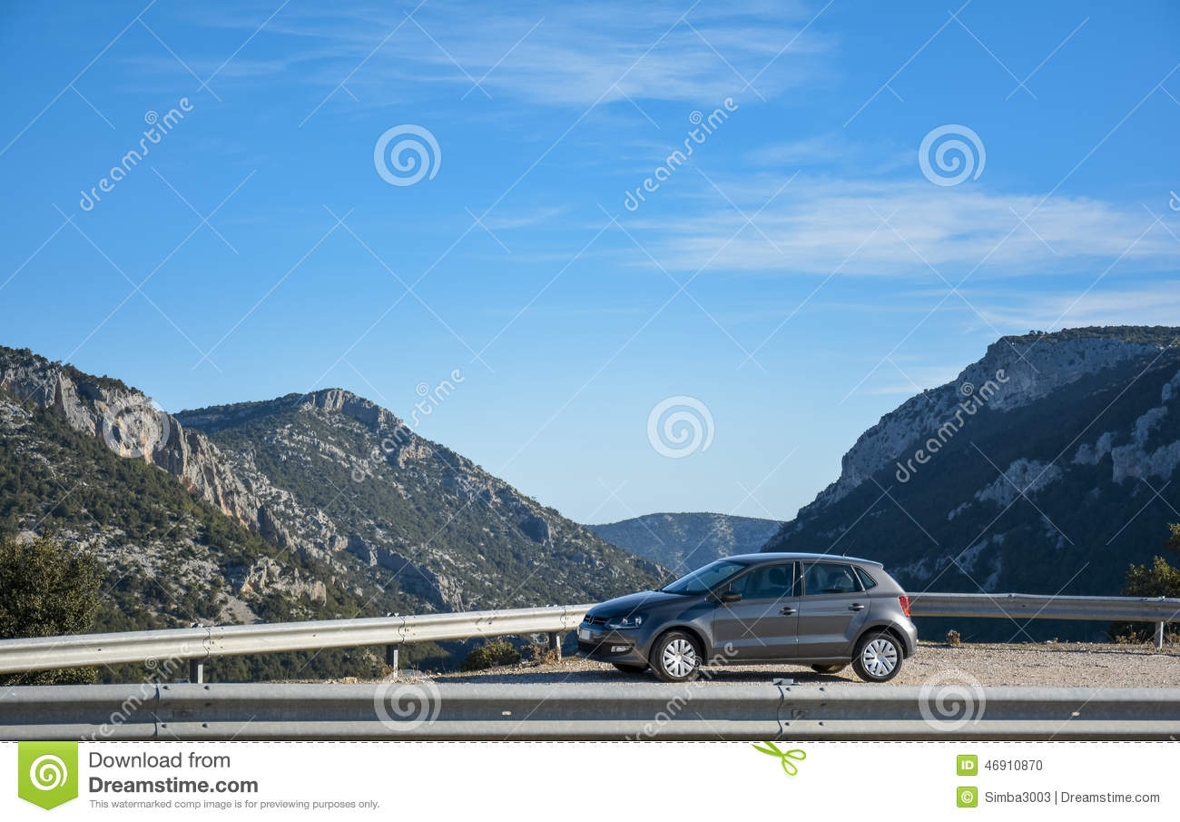 Suv and mountain road