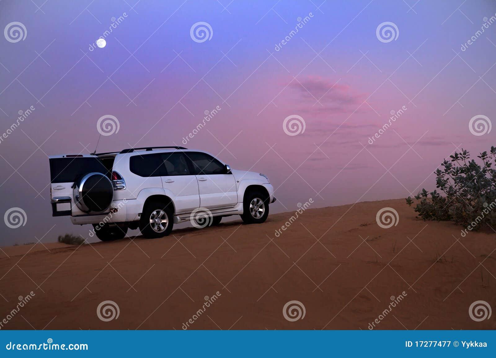 SUV no deserto.