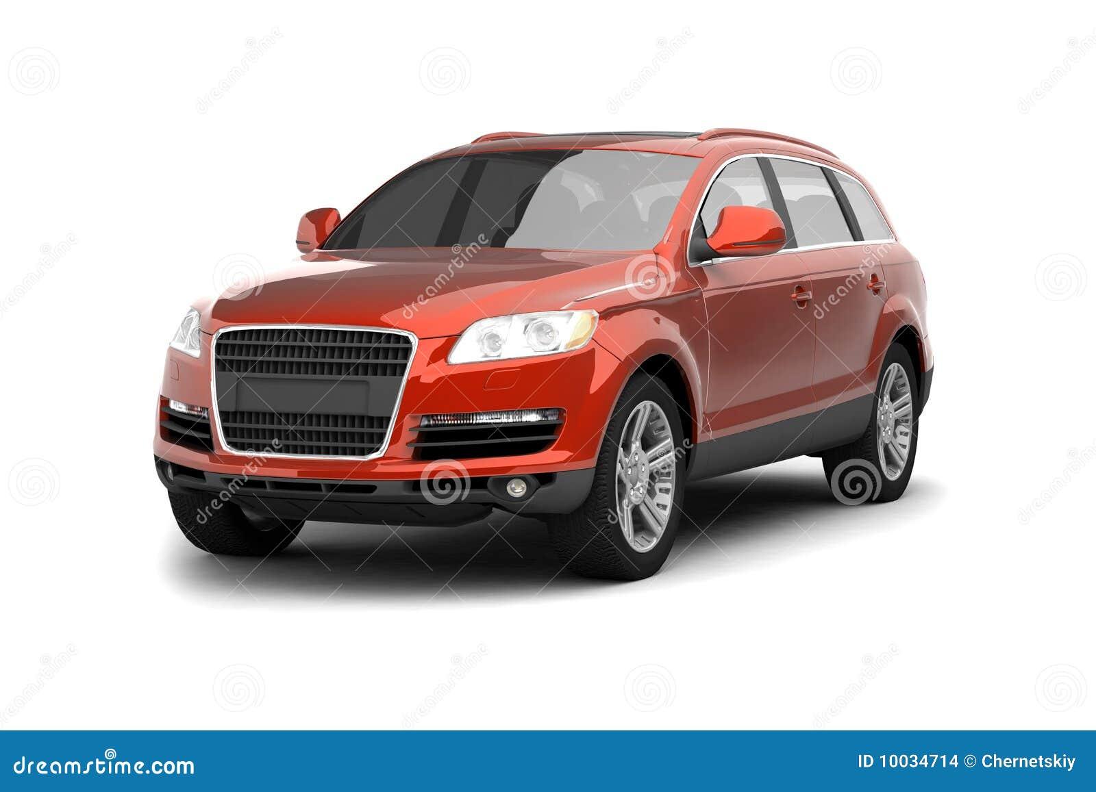Suv rouge de luxe de croisement