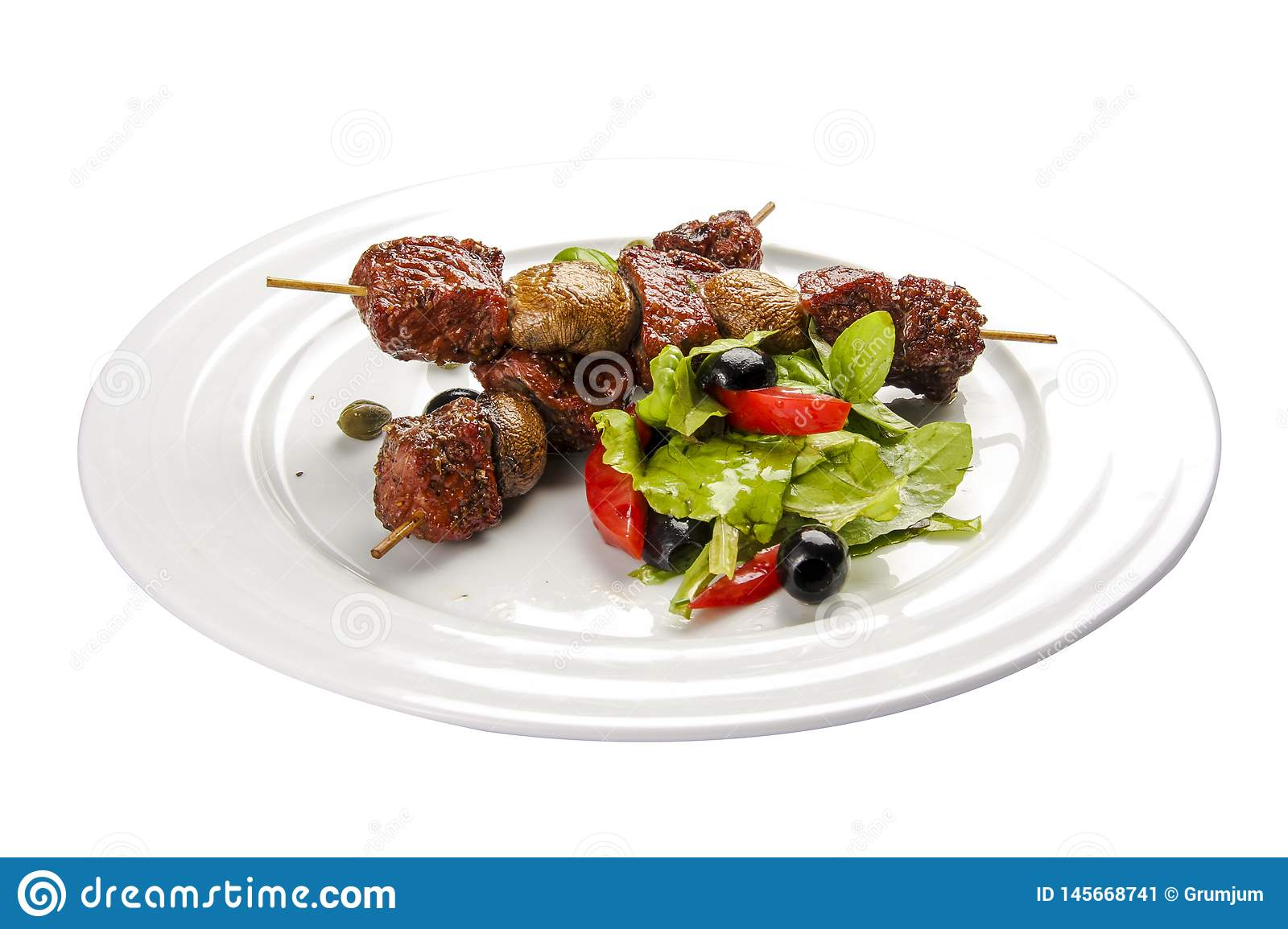 Suvlaki. A traditional Greek dish.