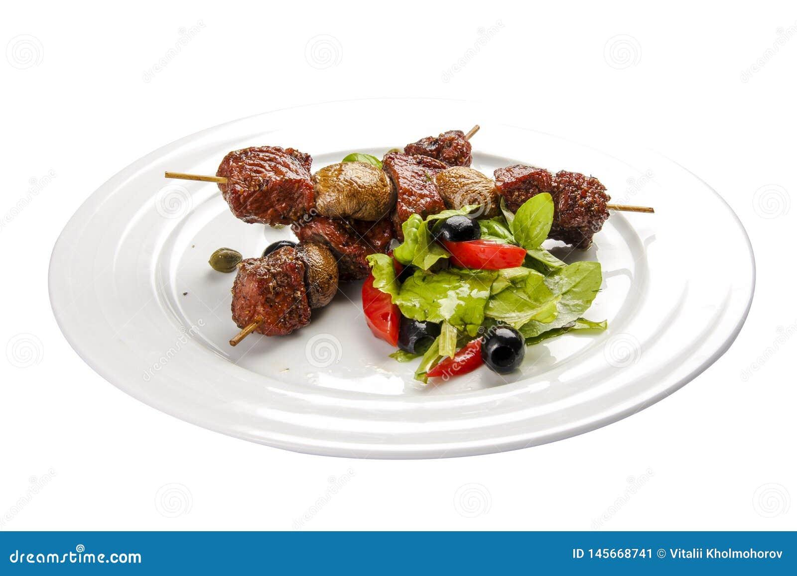 Suvlaki Um prato grego tradicional