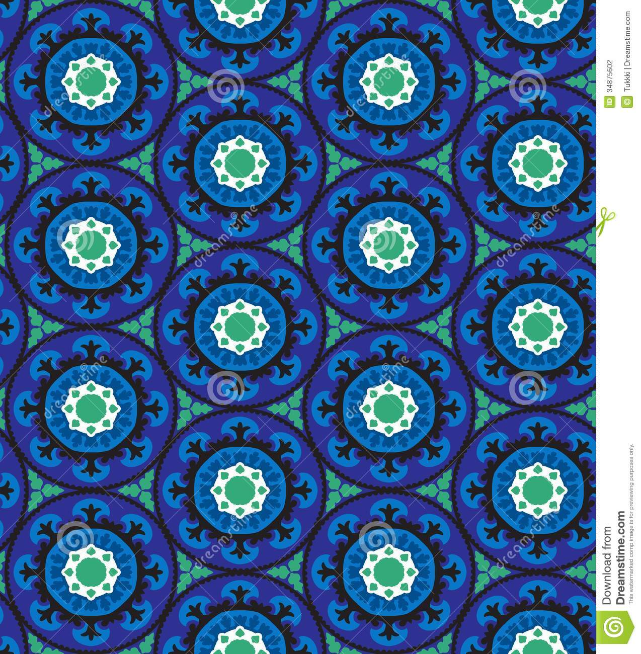 Turkish Design Wallpaper : Suzani pattern stock photography image