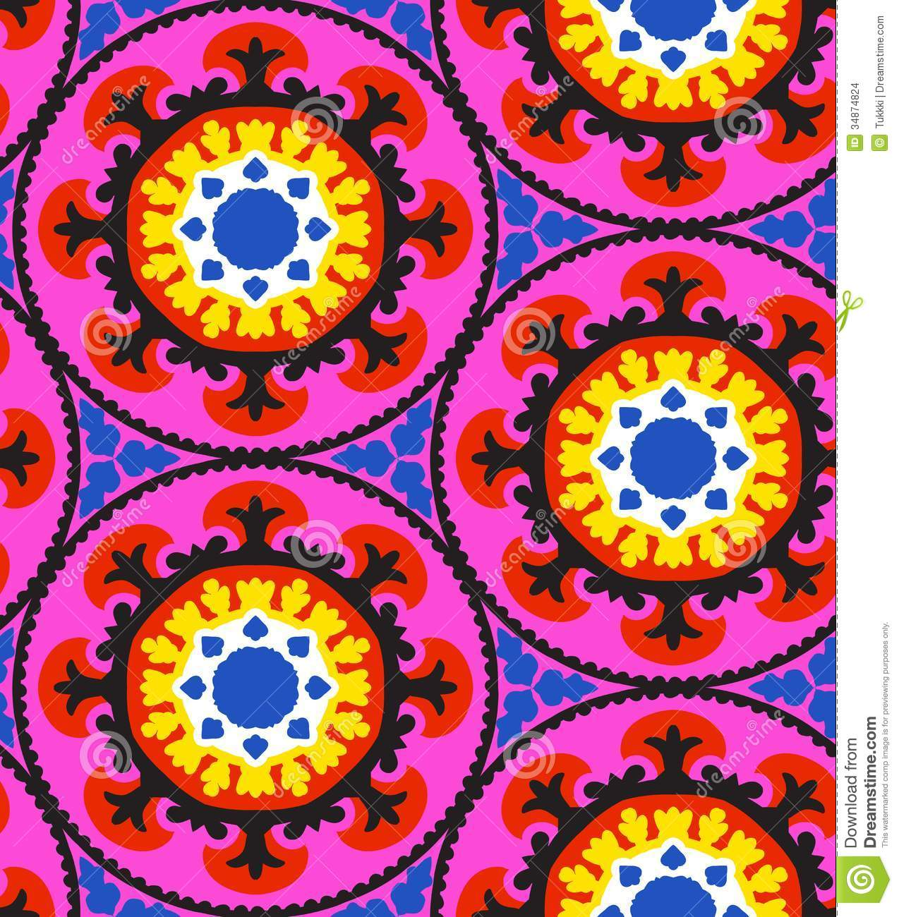 Suzani Pattern Stock Images Image 34874824