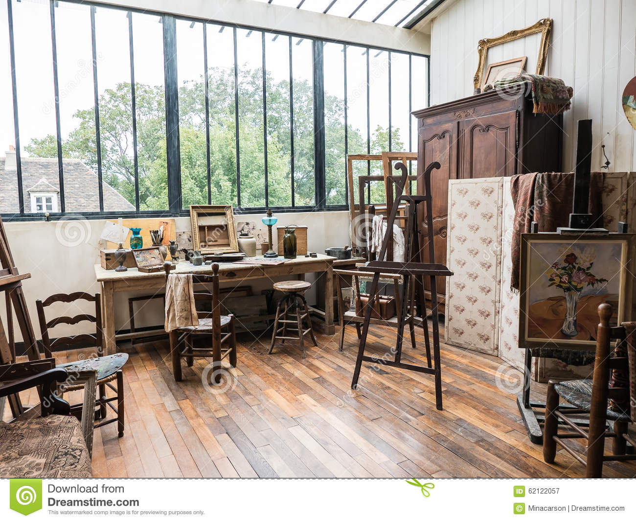 Suzanne Valadon Painting Studio In Musee De Montmartre