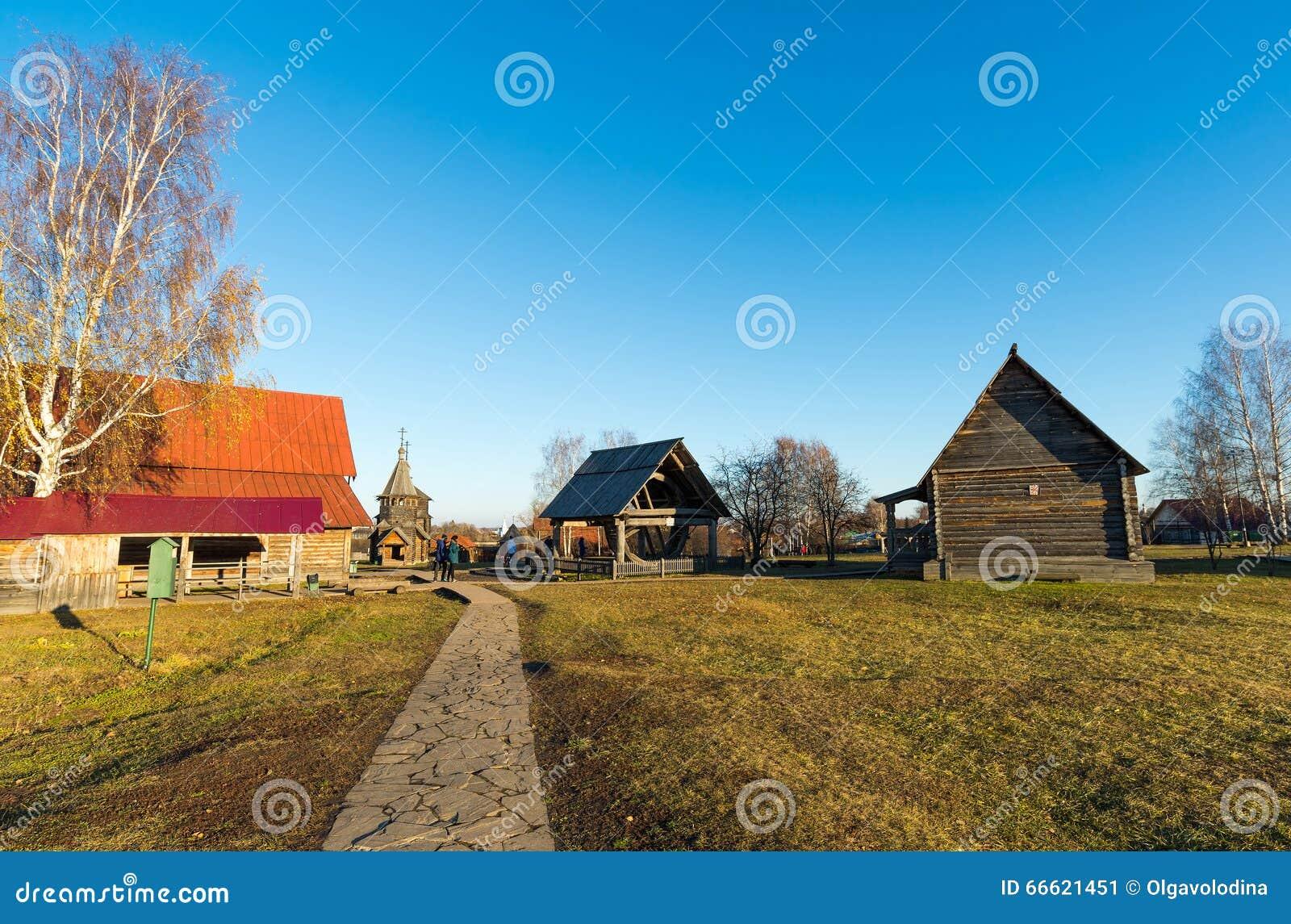 Suzdal Russia 6 Novembre 2015 Architettura Di Legno Del Museo In