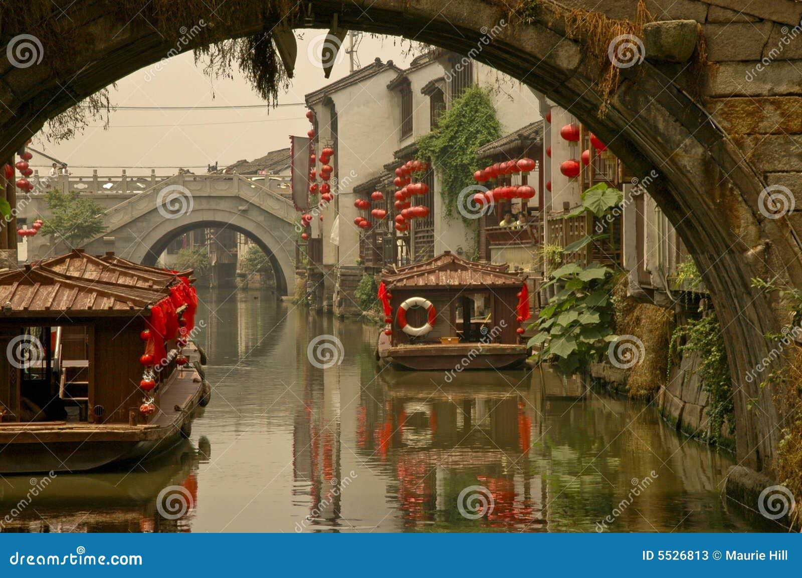Suzhou της Σαγγάης καναλιών γεφυρών