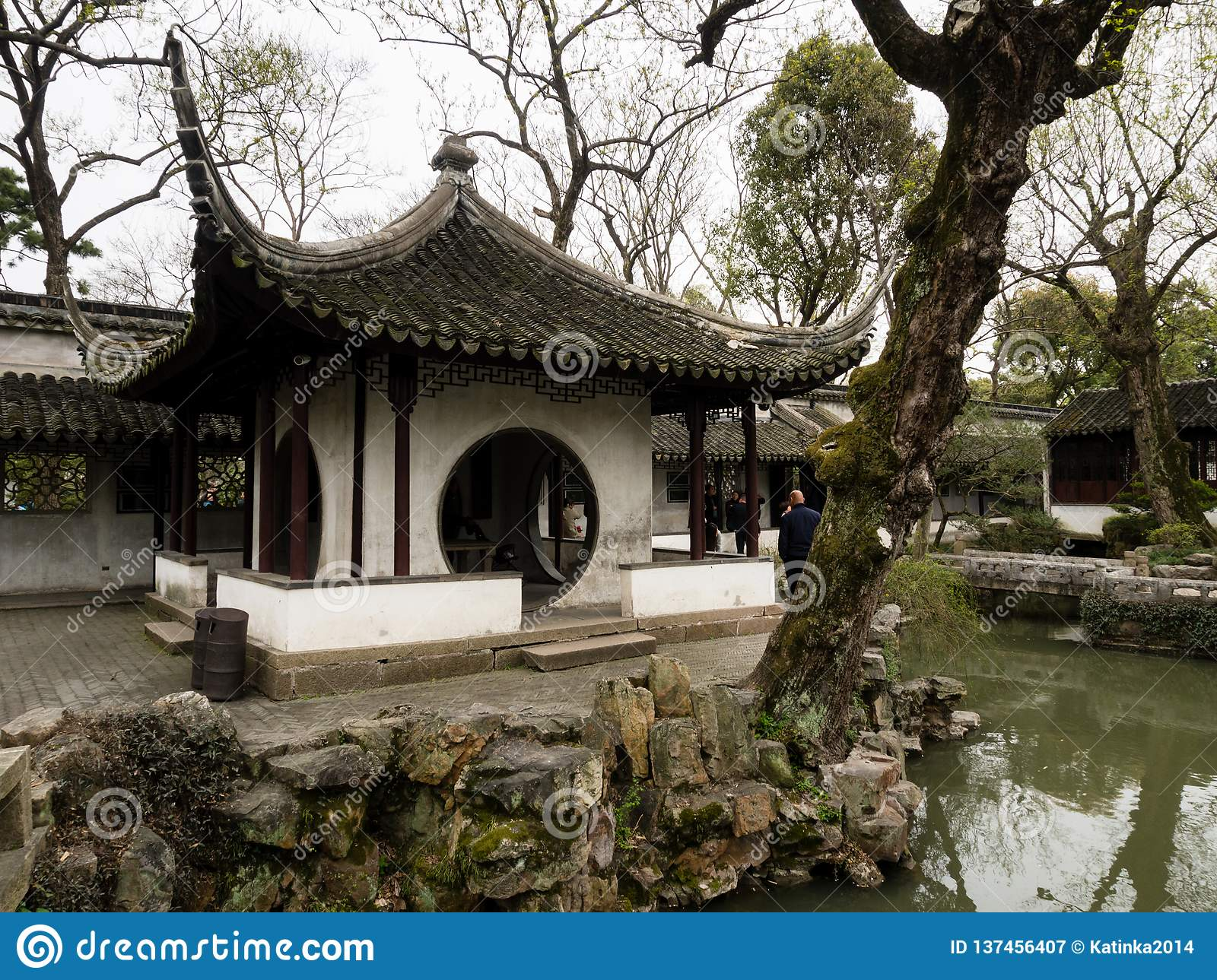 Pavillion in Humble Administrator`s Garden, one of the most famous classical gardens of Suzhou