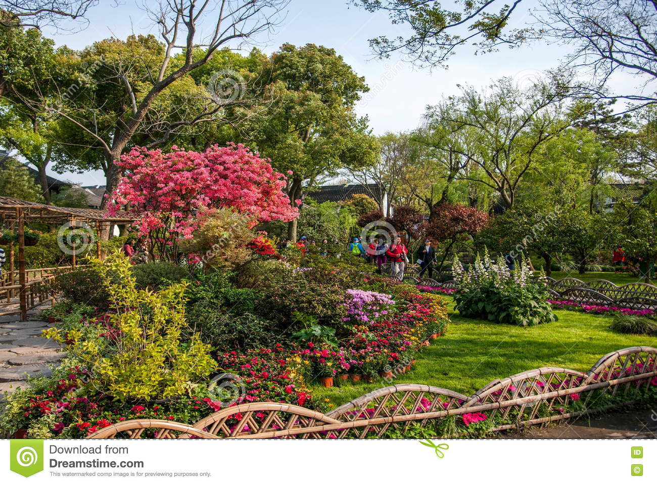 Suzhou dig Park landscape editorial photo. Image of environment ...