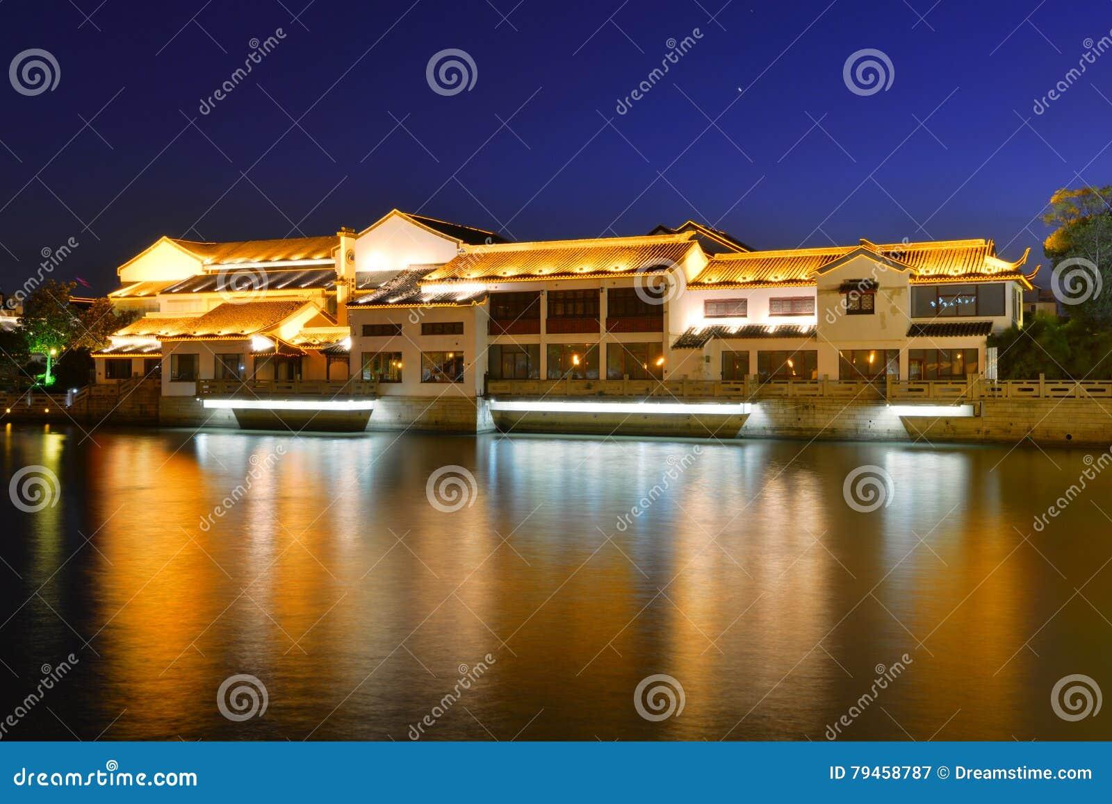 Suzhou Scenery stock image. Image of riverbank, jiangsu - 79458787